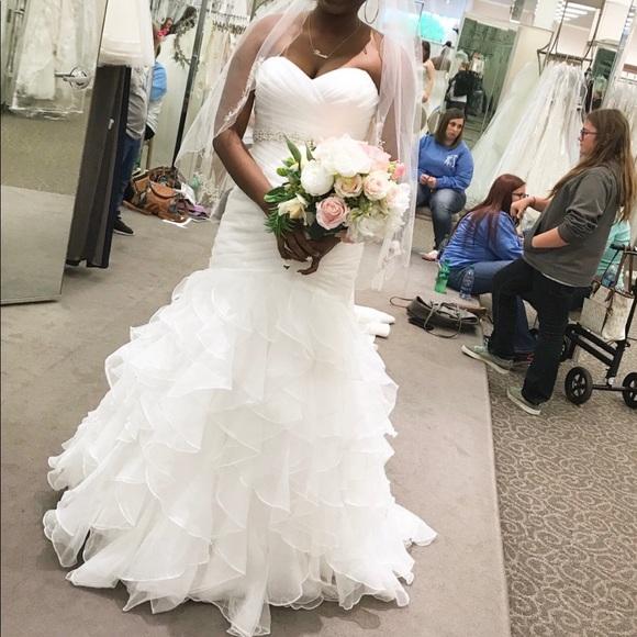 f58b3183563d Dresses | Ivory Mermaid Style Organza Wedding Dress | Poshmark